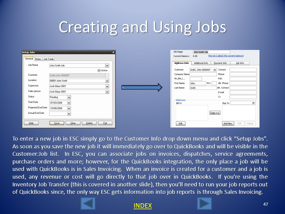 Creating and Using Jobs