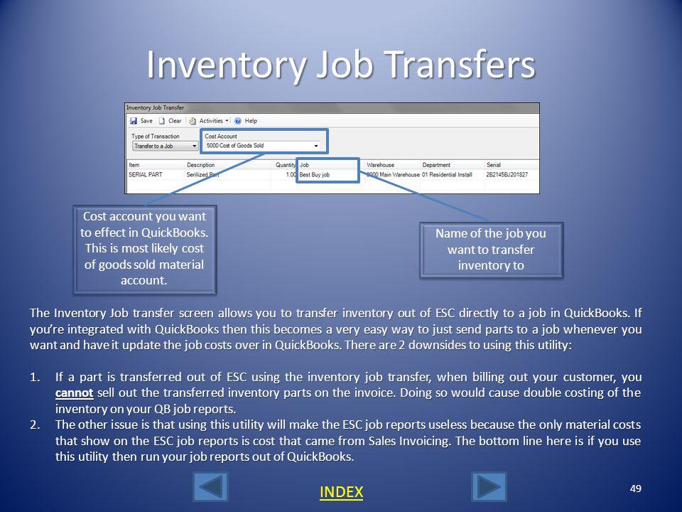 Inventory Job Transfers