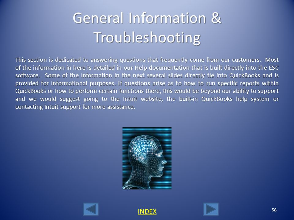 General Information & Troubleshooting
