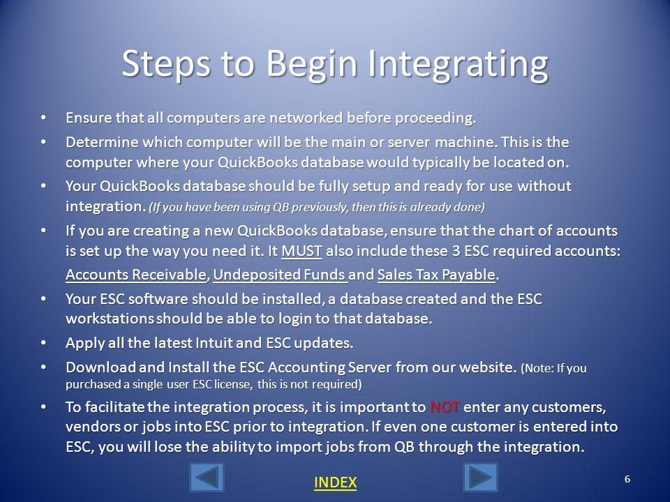 Steps to Begin Integrating