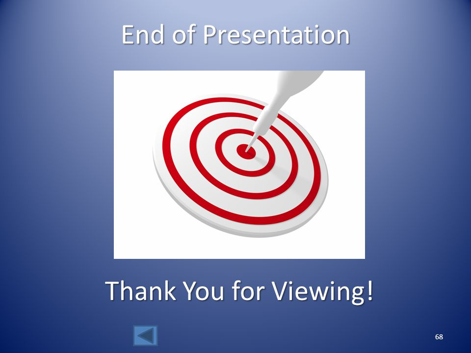 End of Presentation Thank You for Viewing!