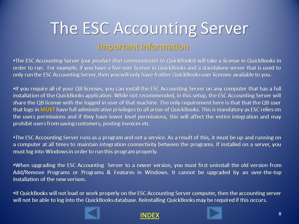 The ESC Accounting Server