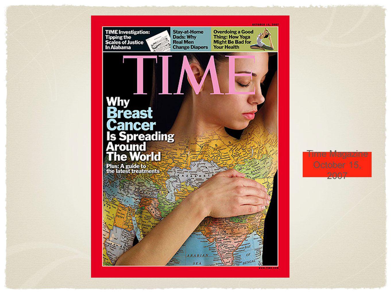 Time Magazine October 15, 2007