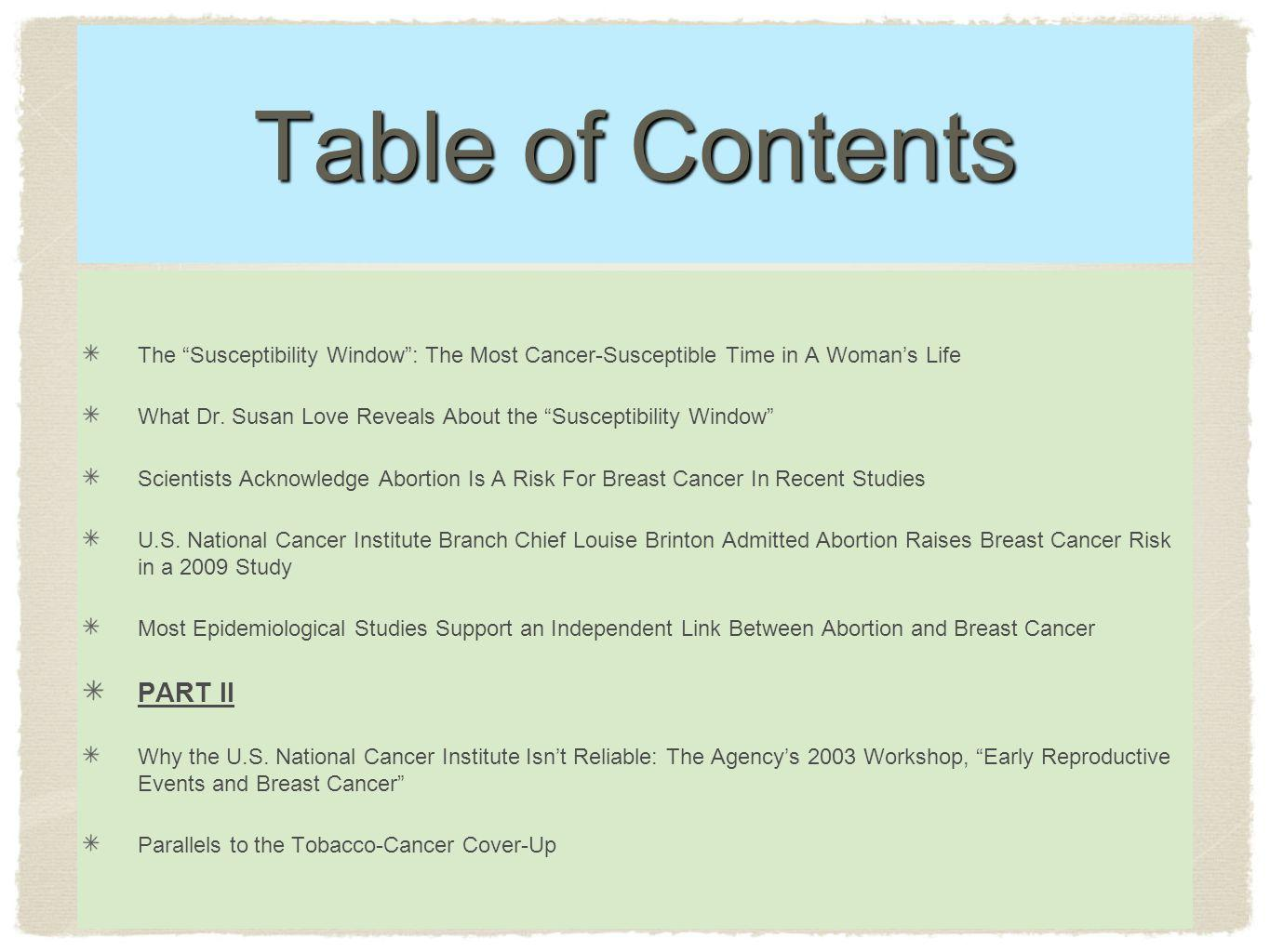Table of Contents PART II