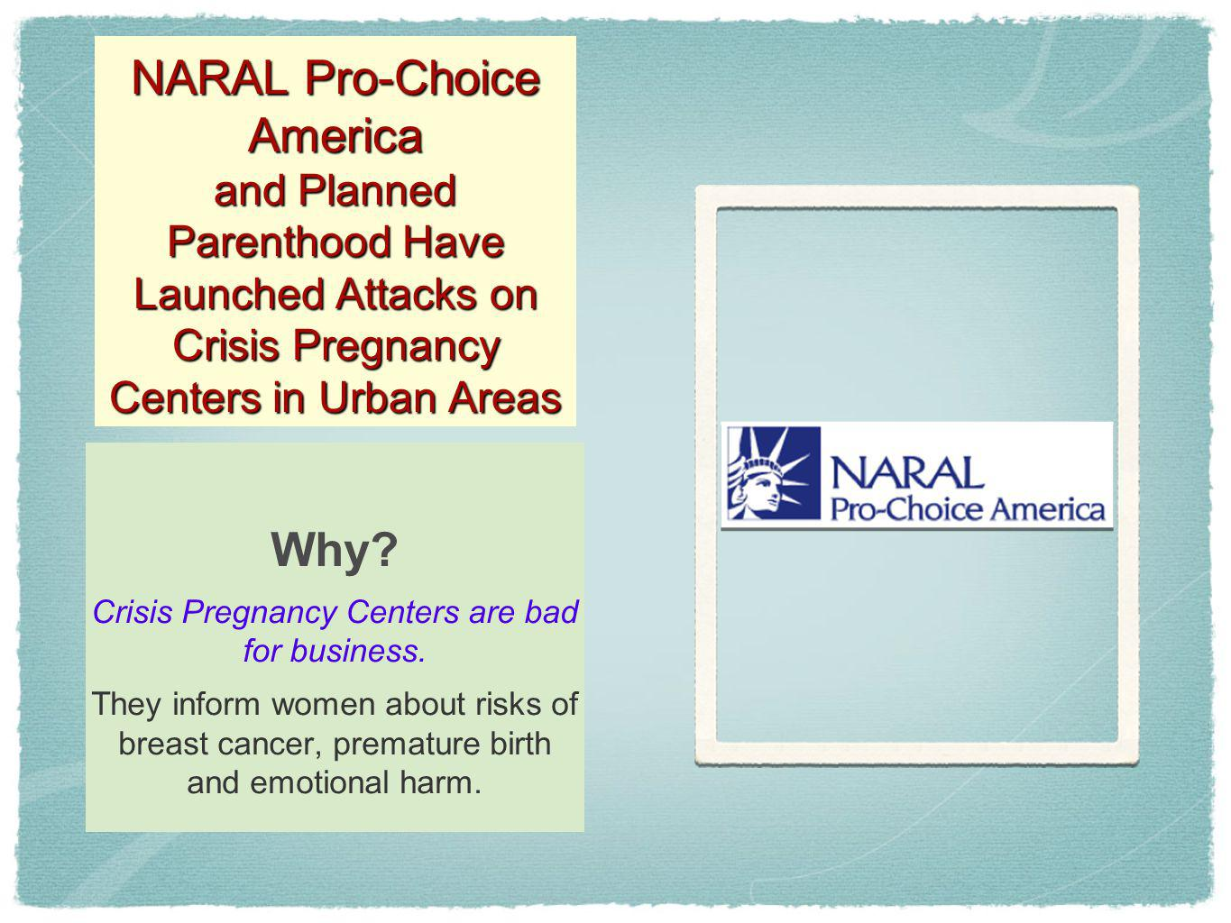 Crisis Pregnancy Centers are bad for business.