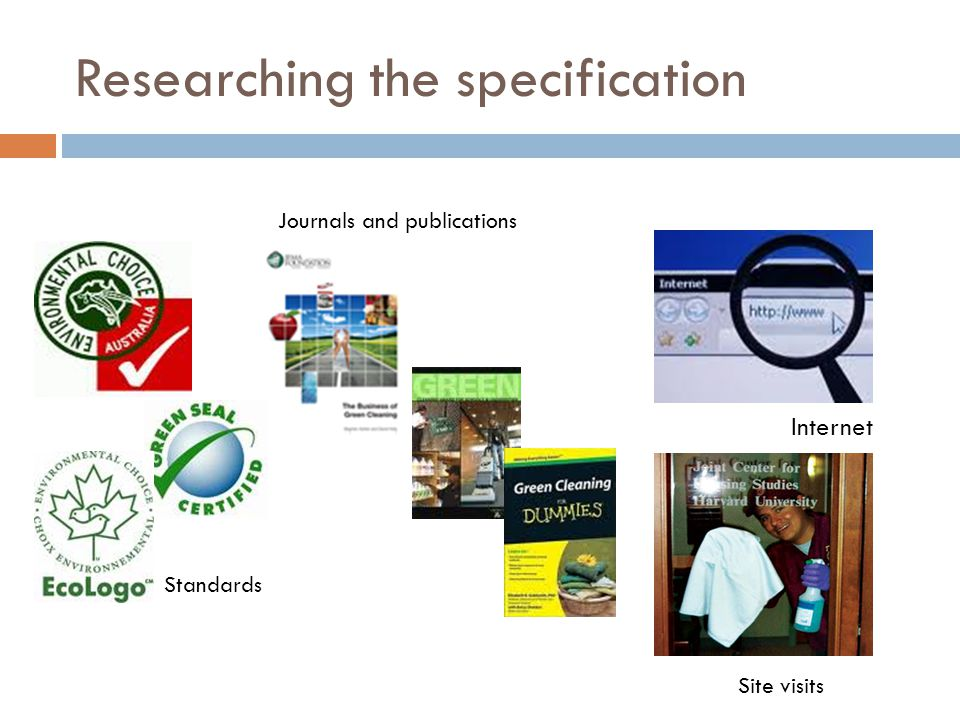 Researching the specification