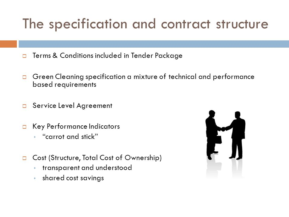 The specification and contract structure