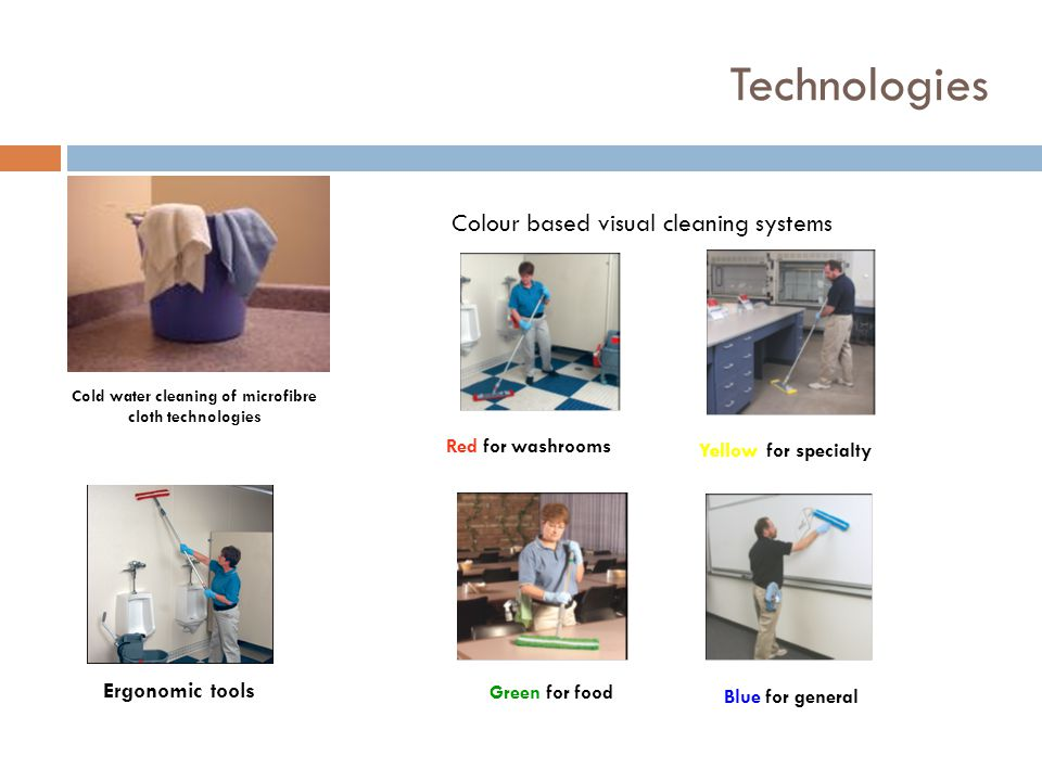 Cold water cleaning of microfibre cloth technologies