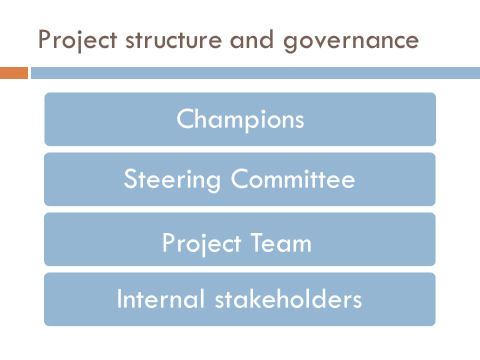 Project structure and governance
