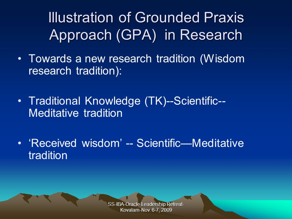Illustration of Grounded Praxis Approach (GPA) in Research