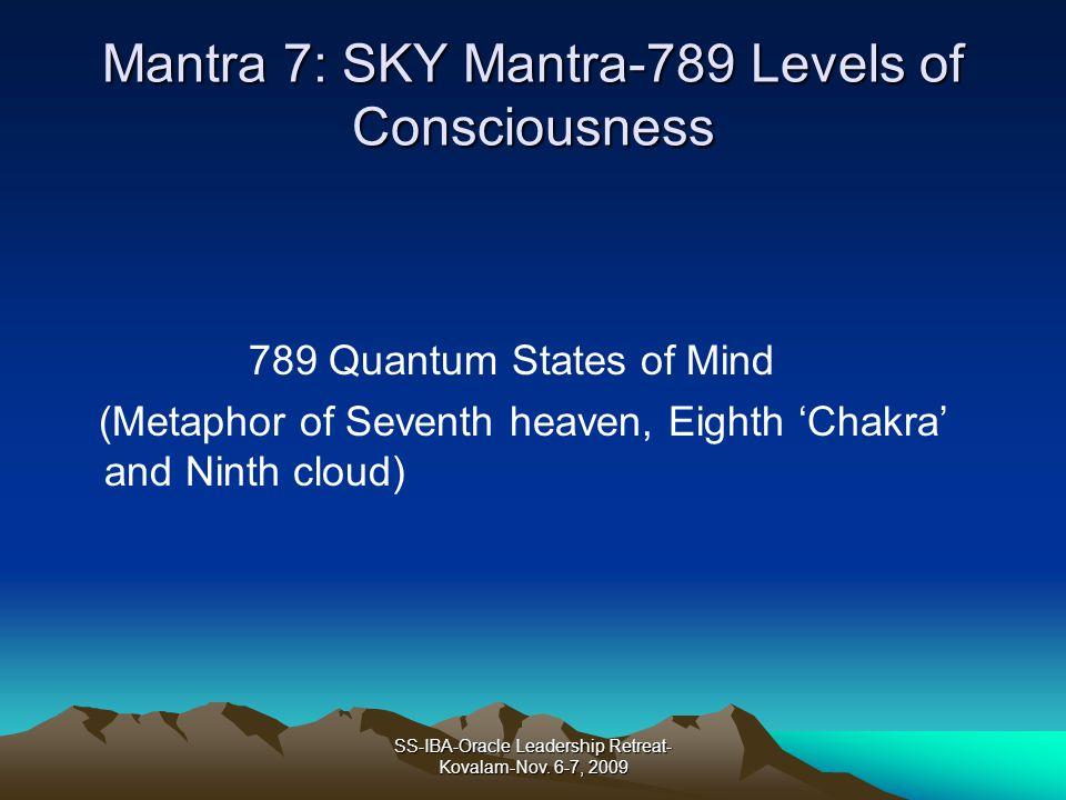 Mantra 7: SKY Mantra-789 Levels of Consciousness