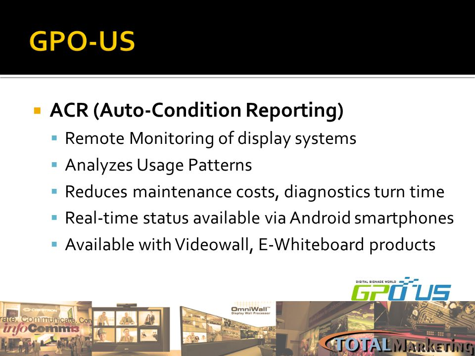 GPO-US ACR (Auto-Condition Reporting)