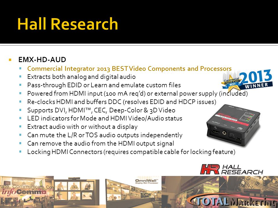 Hall Research EMX-HD-AUD