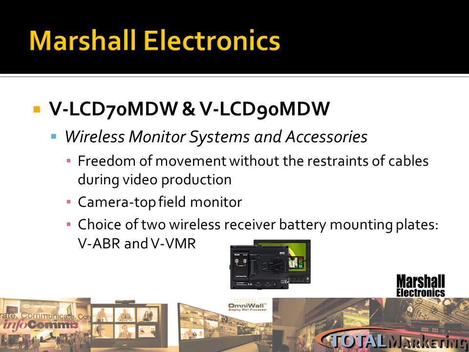 Marshall Electronics V-LCD70MDW & V-LCD90MDW