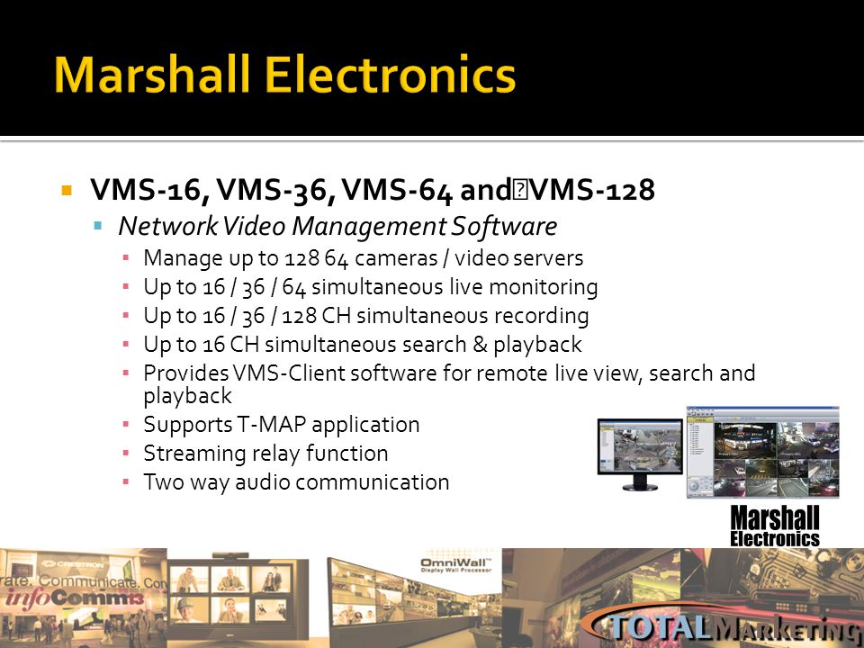 Marshall Electronics VMS-16, VMS-36, VMS-64 and VMS-128