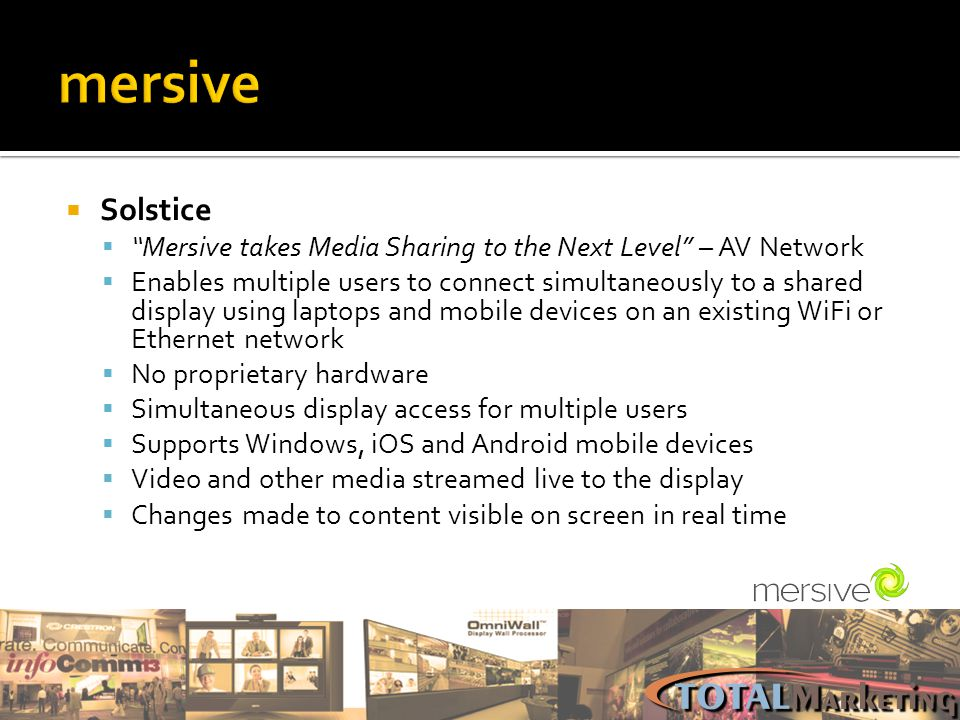 mersive Solstice. Mersive takes Media Sharing to the Next Level – AV Network.