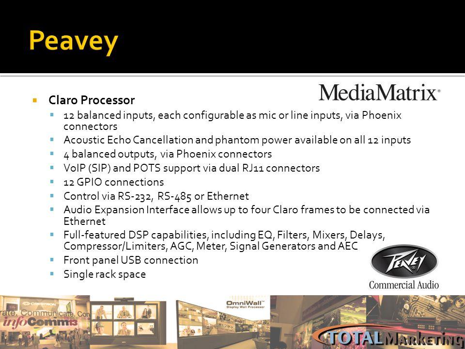 Peavey Claro Processor