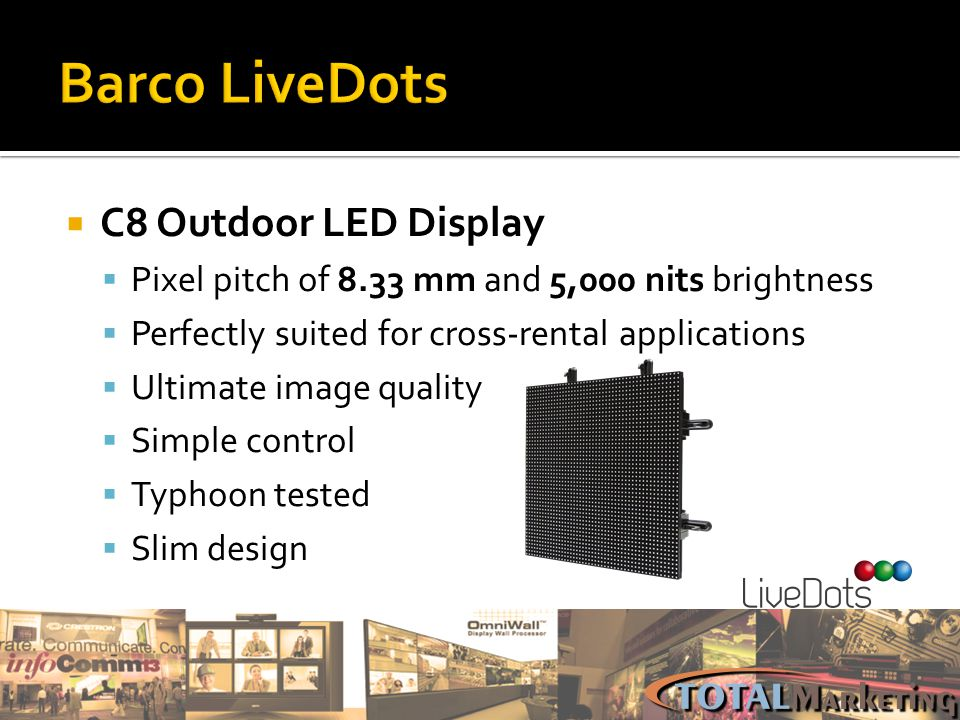 Barco LiveDots C8 Outdoor LED Display