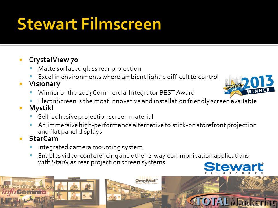 Stewart Filmscreen CrystalView 70 Visionary Mystik! StarCam