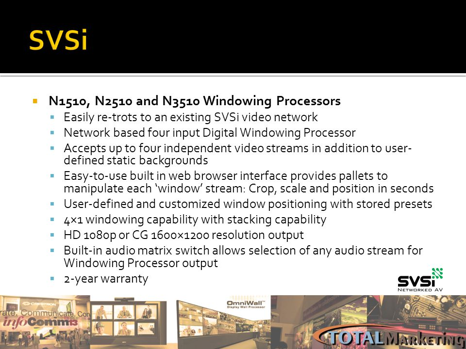 SVSi N1510, N2510 and N3510 Windowing Processors