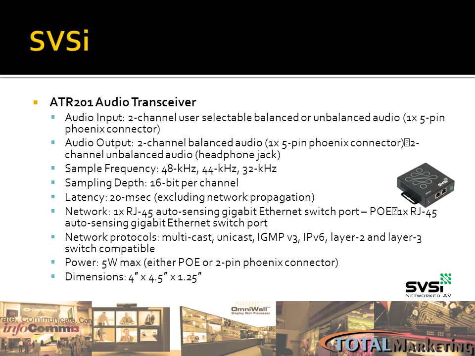 SVSi ATR201 Audio Transceiver