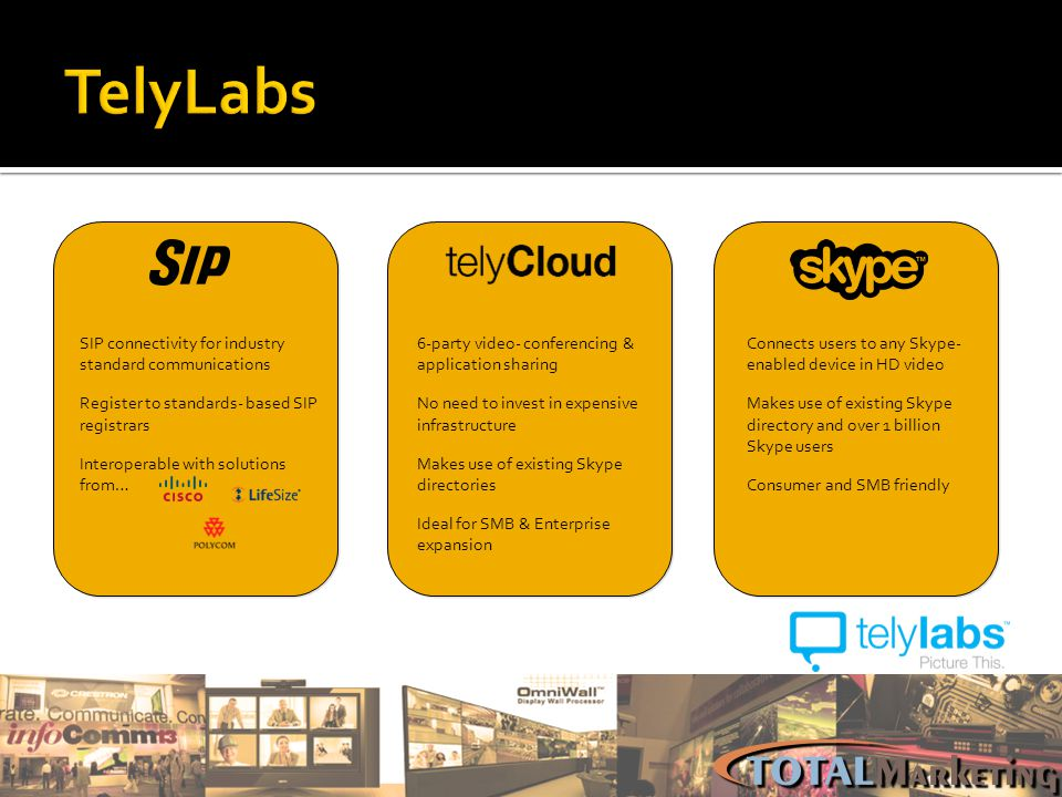TelyLabs SIP connectivity for industry standard communications