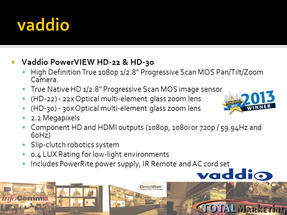 vaddio Vaddio PowerVIEW HD-22 & HD-30