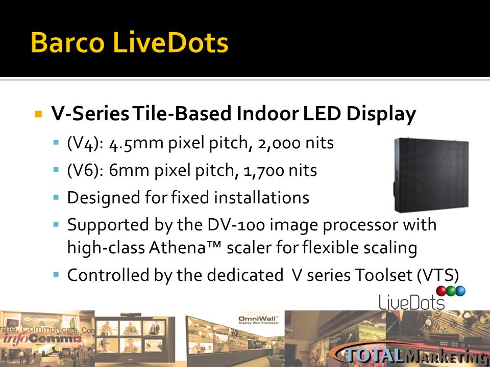 Barco LiveDots V-Series Tile-Based Indoor LED Display