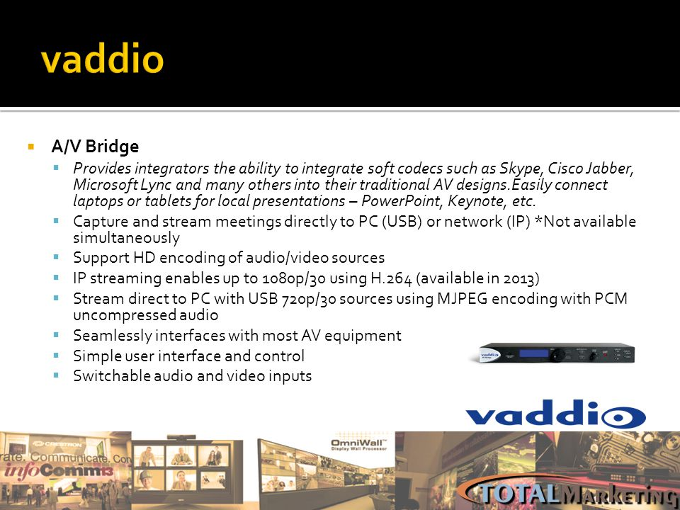 vaddio A/V Bridge.