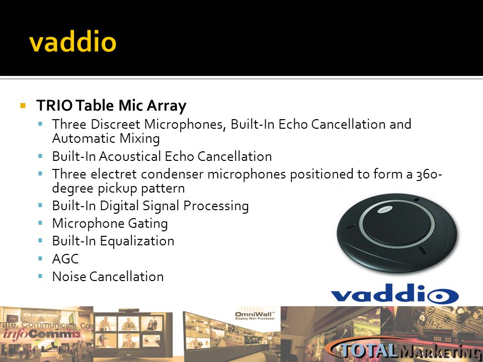 vaddio TRIO Table Mic Array