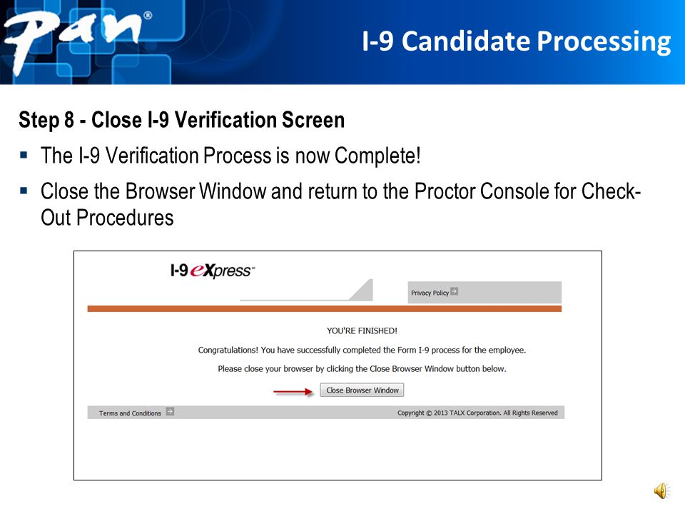 I-9 Candidate Processing