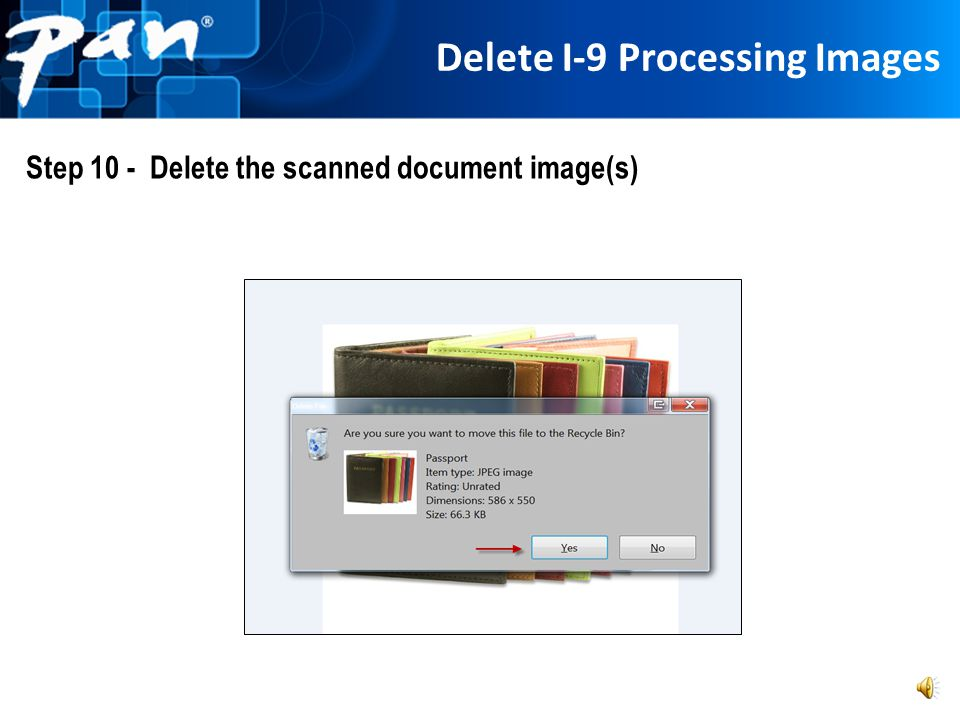 Delete I-9 Processing Images
