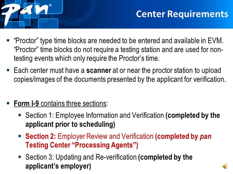 Center Requirements