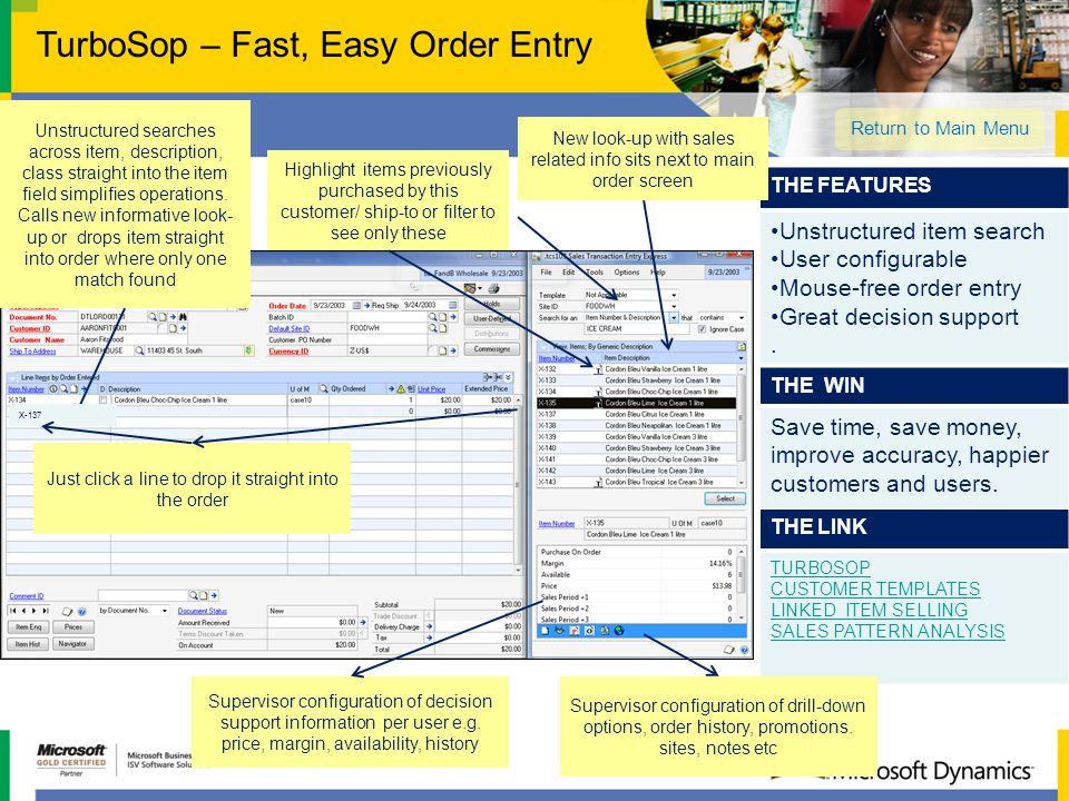 TurboSop – Fast, Easy Order Entry