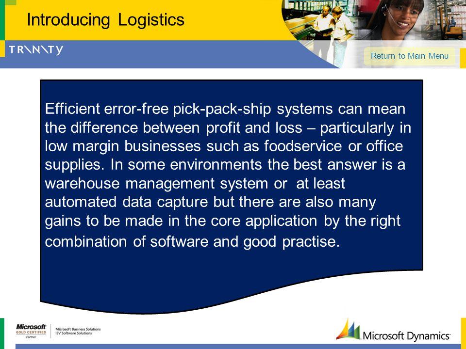 Introducing Logistics