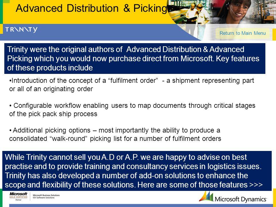 Advanced Distribution & Picking