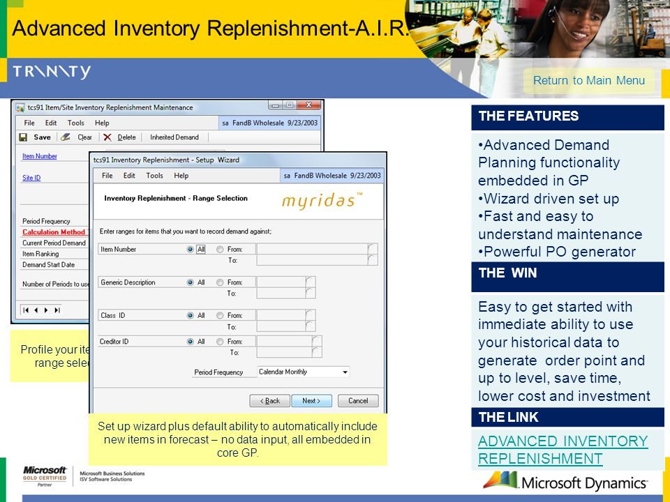 Advanced Inventory Replenishment-A.I.R.