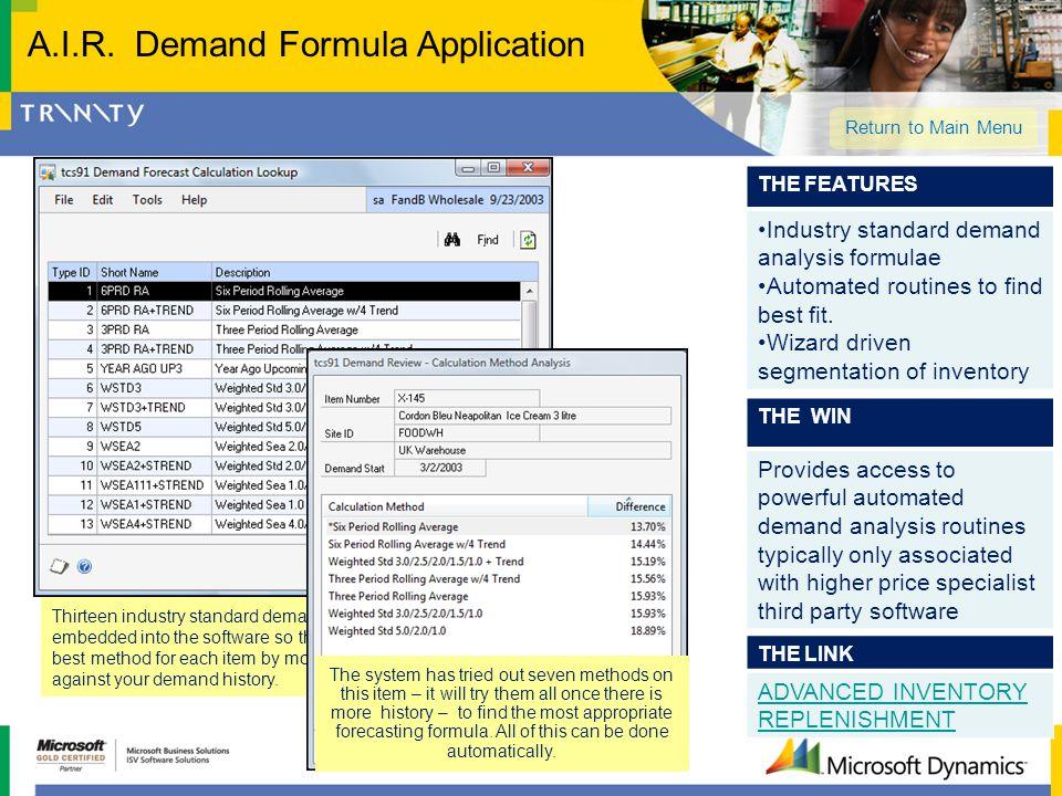 A.I.R. Demand Formula Application