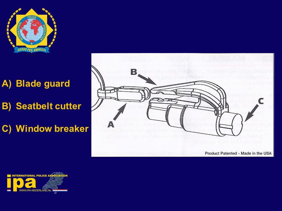 Blade guard Seatbelt cutter Window breaker