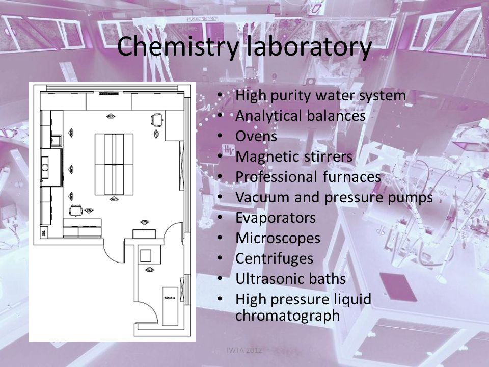 Chemistry laboratory High purity water system Analytical balances
