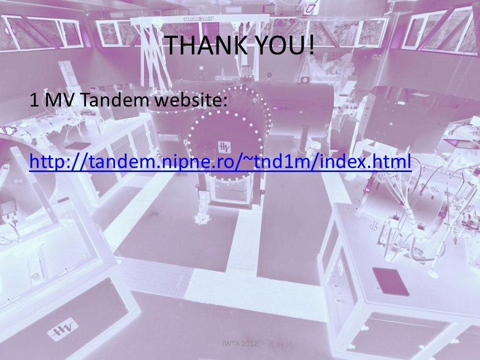THANK YOU! 1 MV Tandem website: