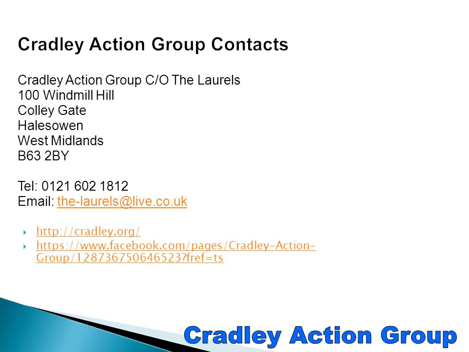 Cradley Action Group Contacts