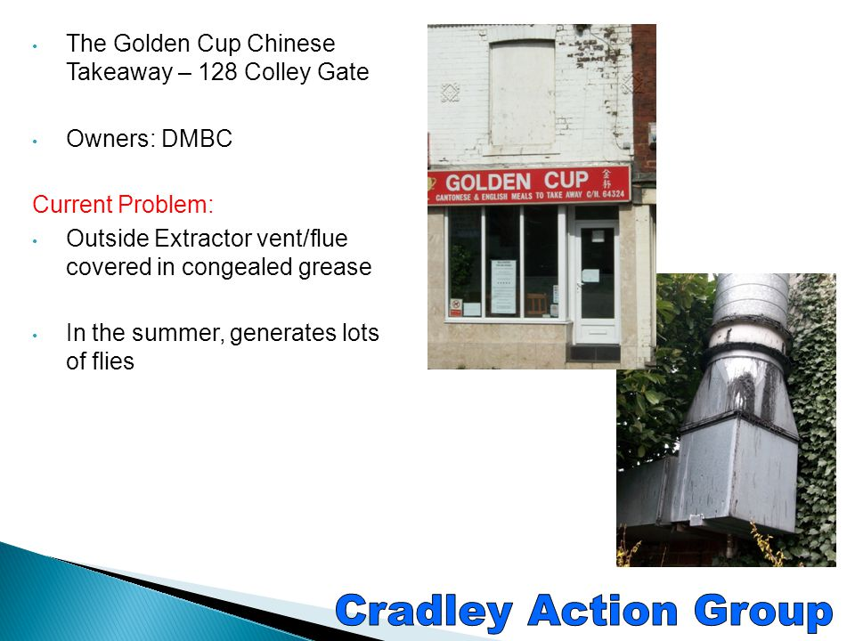 Cradley Action Group The Golden Cup Chinese Takeaway – 128 Colley Gate