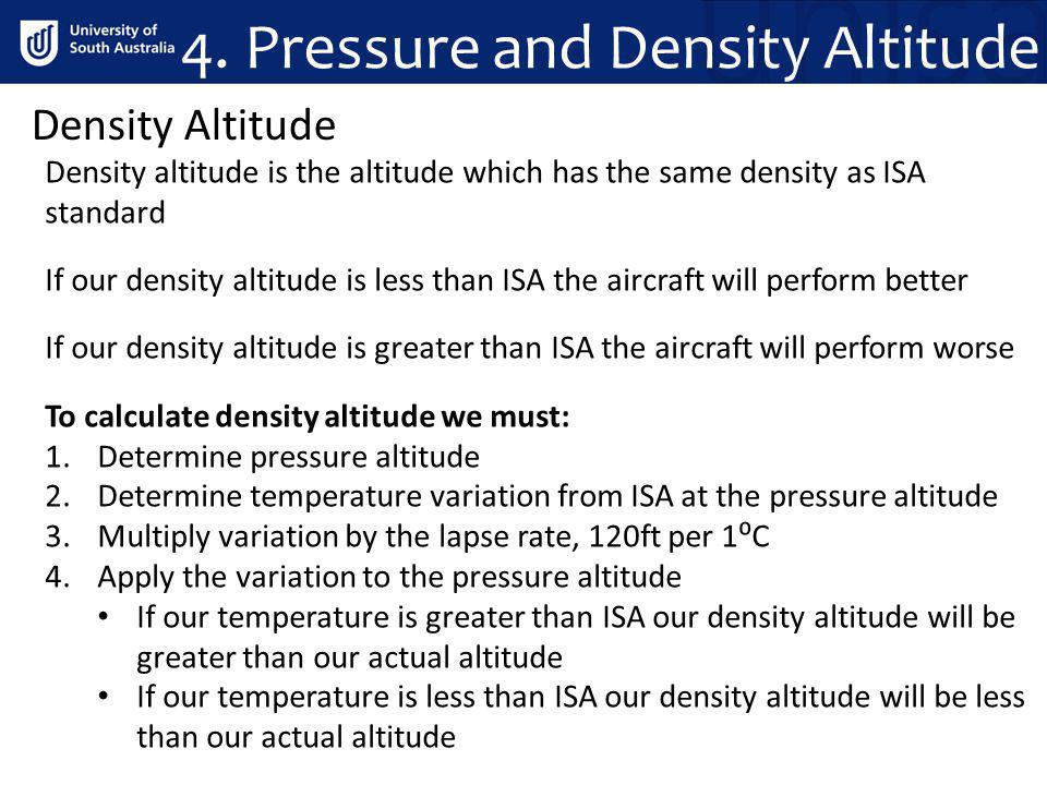4. Pressure and Density Altitude