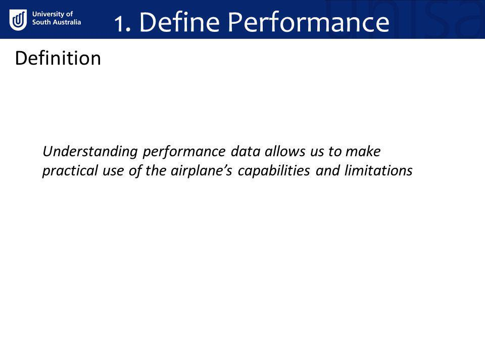 1. Define Performance Definition