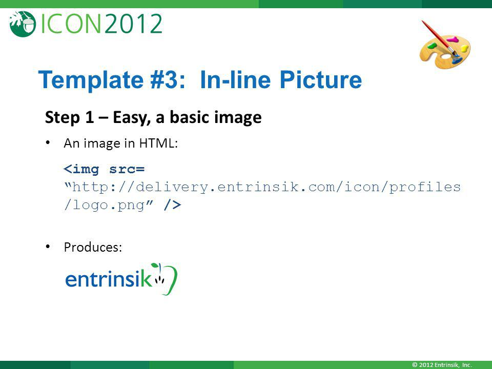 Template #3: In-line Picture