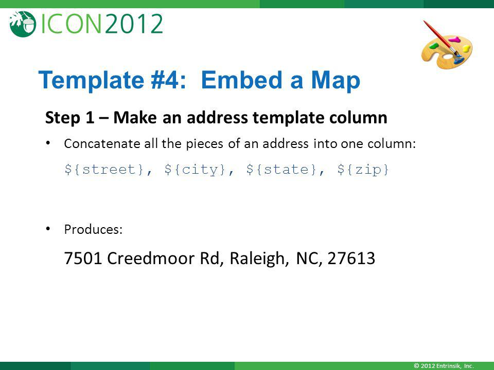 Template #4: Embed a Map Step 1 – Make an address template column
