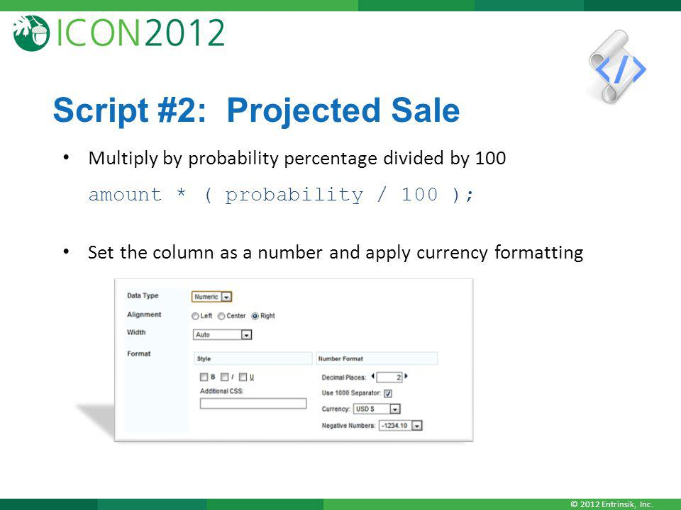 Script #2: Projected Sale