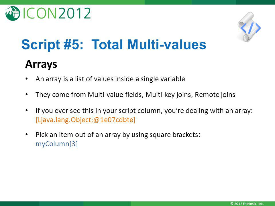 Script #5: Total Multi-values