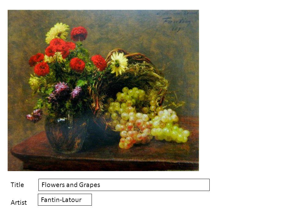 Title Artist Flowers and Grapes Fantin-Latour